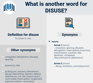 disuse, synonym disuse, another word for disuse, words like disuse, thesaurus disuse