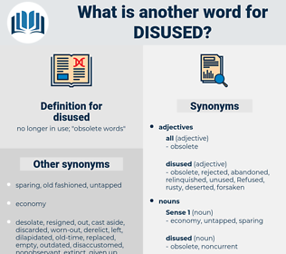 disused, synonym disused, another word for disused, words like disused, thesaurus disused