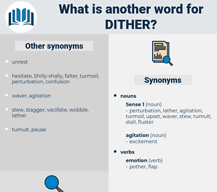 dither, synonym dither, another word for dither, words like dither, thesaurus dither