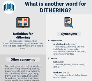 dithering, synonym dithering, another word for dithering, words like dithering, thesaurus dithering