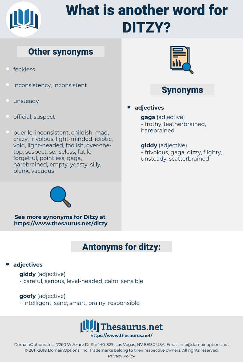 ditzy, synonym ditzy, another word for ditzy, words like ditzy, thesaurus ditzy