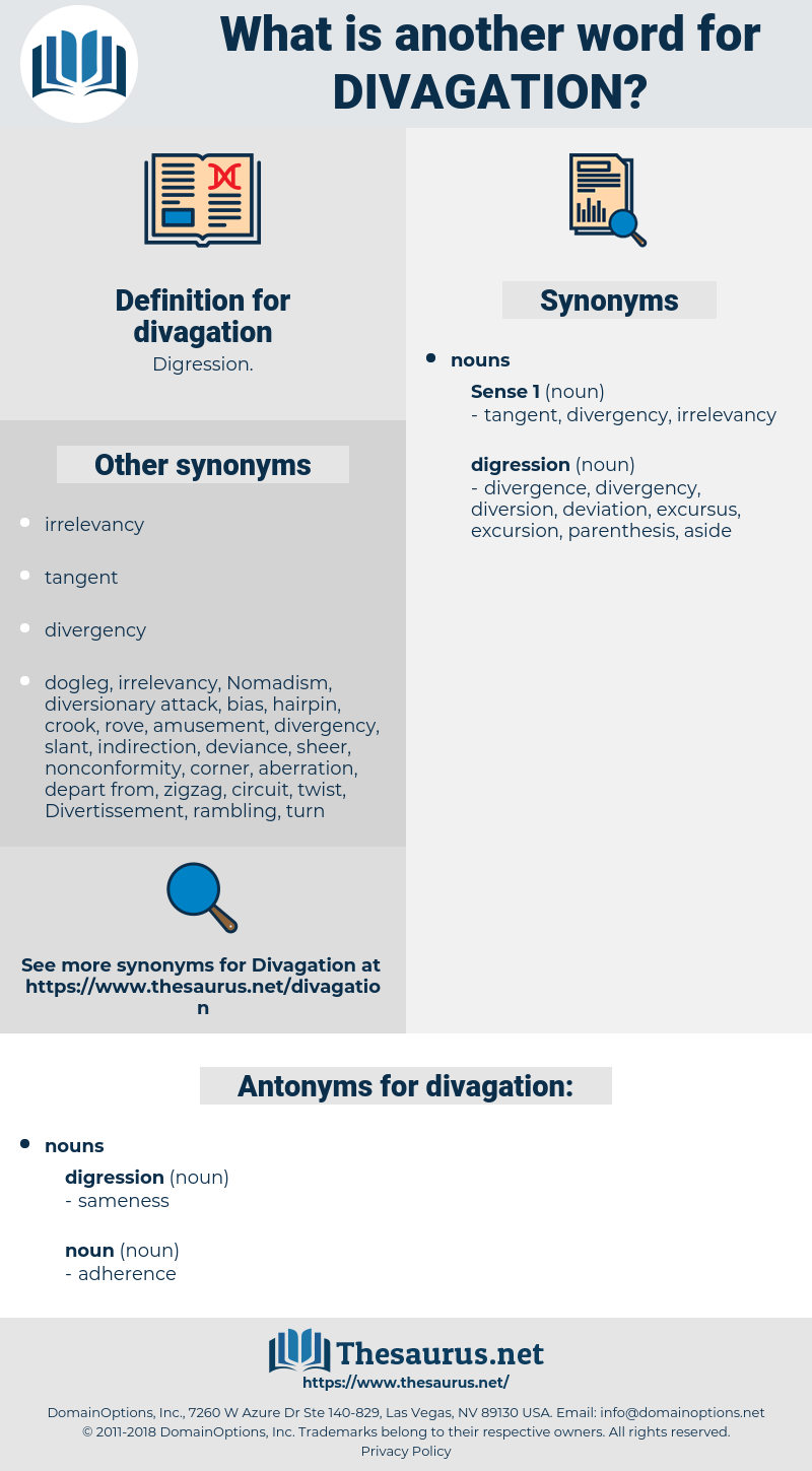 divagation, synonym divagation, another word for divagation, words like divagation, thesaurus divagation