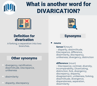 divarication, synonym divarication, another word for divarication, words like divarication, thesaurus divarication
