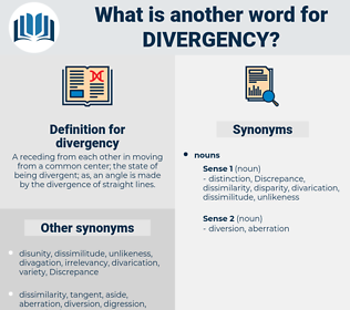 divergency, synonym divergency, another word for divergency, words like divergency, thesaurus divergency