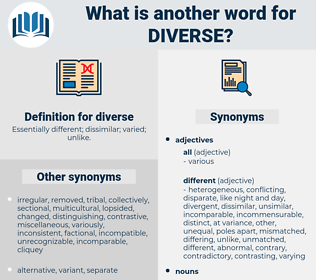 diverse, synonym diverse, another word for diverse, words like diverse, thesaurus diverse