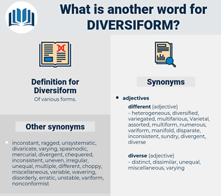Diversiform, synonym Diversiform, another word for Diversiform, words like Diversiform, thesaurus Diversiform
