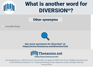 diversion, synonym diversion, another word for diversion, words like diversion, thesaurus diversion