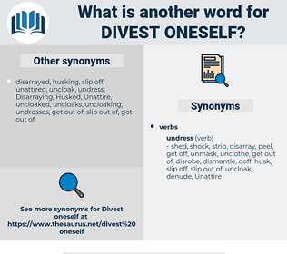 divest oneself, synonym divest oneself, another word for divest oneself, words like divest oneself, thesaurus divest oneself