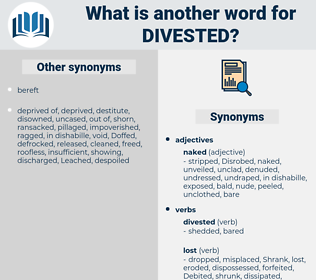 Divested, synonym Divested, another word for Divested, words like Divested, thesaurus Divested