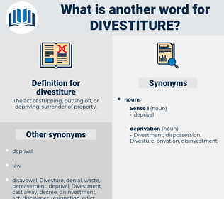 divestiture, synonym divestiture, another word for divestiture, words like divestiture, thesaurus divestiture