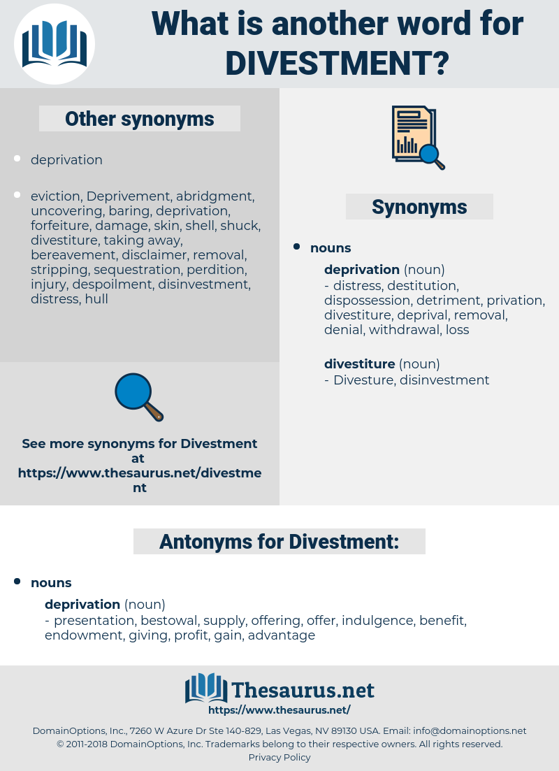 Divestment, synonym Divestment, another word for Divestment, words like Divestment, thesaurus Divestment