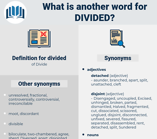 divided, synonym divided, another word for divided, words like divided, thesaurus divided