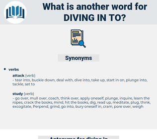 diving in to, synonym diving in to, another word for diving in to, words like diving in to, thesaurus diving in to