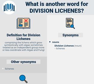 Division Lichenes, synonym Division Lichenes, another word for Division Lichenes, words like Division Lichenes, thesaurus Division Lichenes