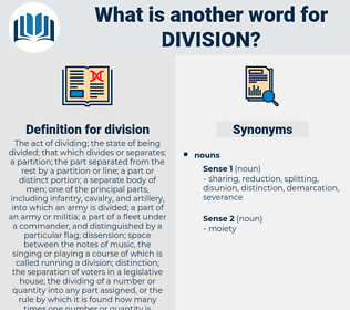 division, synonym division, another word for division, words like division, thesaurus division