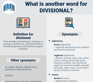 divisional, synonym divisional, another word for divisional, words like divisional, thesaurus divisional