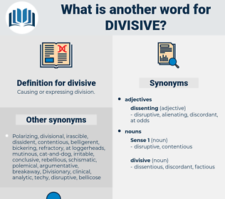 divisive, synonym divisive, another word for divisive, words like divisive, thesaurus divisive