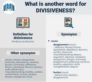 divisiveness, synonym divisiveness, another word for divisiveness, words like divisiveness, thesaurus divisiveness