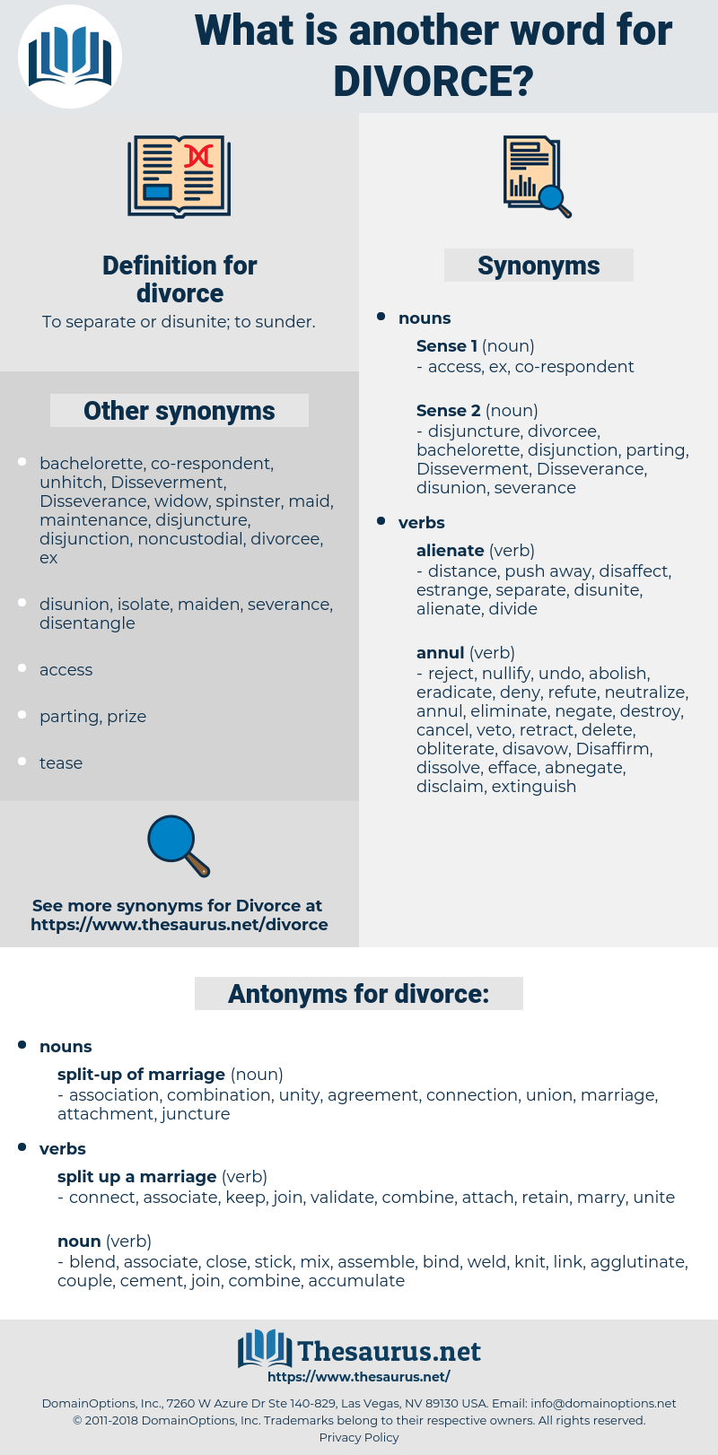 divorce, synonym divorce, another word for divorce, words like divorce, thesaurus divorce