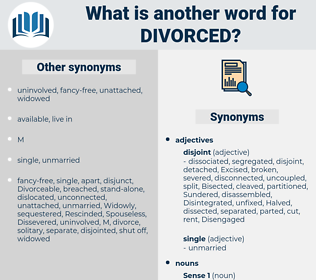 divorced, synonym divorced, another word for divorced, words like divorced, thesaurus divorced