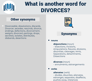 Divorces, synonym Divorces, another word for Divorces, words like Divorces, thesaurus Divorces