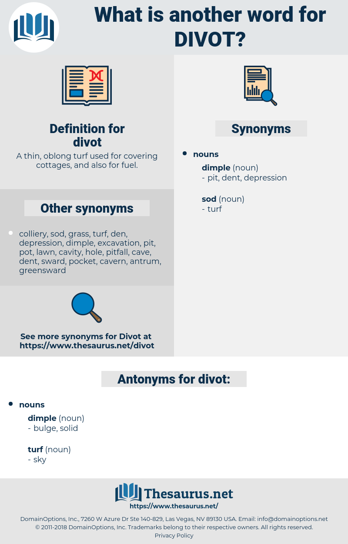 divot, synonym divot, another word for divot, words like divot, thesaurus divot