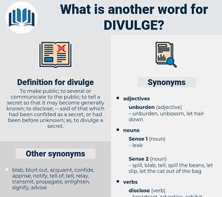 divulge, synonym divulge, another word for divulge, words like divulge, thesaurus divulge
