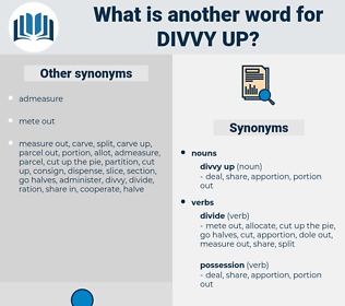 divvy up, synonym divvy up, another word for divvy up, words like divvy up, thesaurus divvy up