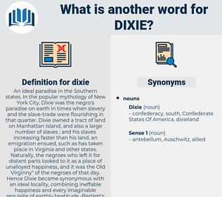 dixie, synonym dixie, another word for dixie, words like dixie, thesaurus dixie