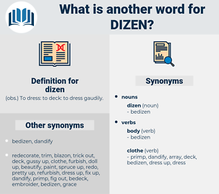 dizen, synonym dizen, another word for dizen, words like dizen, thesaurus dizen