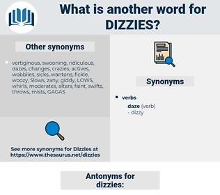 dizzies, synonym dizzies, another word for dizzies, words like dizzies, thesaurus dizzies