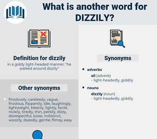 dizzily, synonym dizzily, another word for dizzily, words like dizzily, thesaurus dizzily
