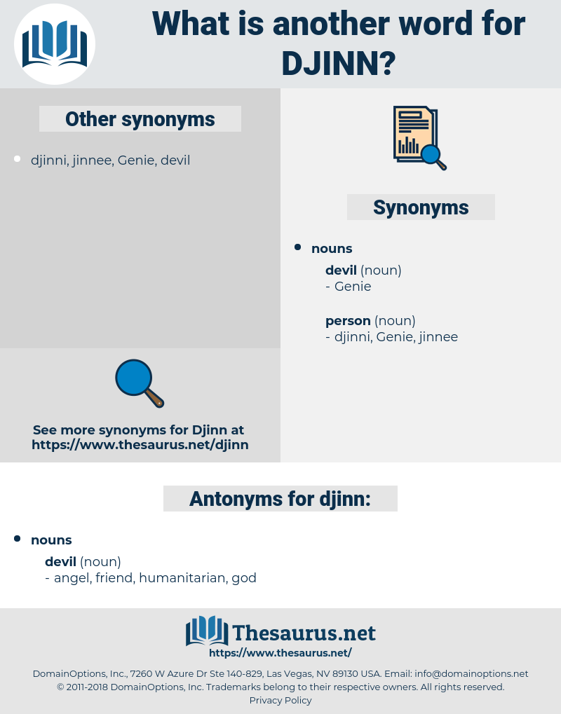 djinn, synonym djinn, another word for djinn, words like djinn, thesaurus djinn