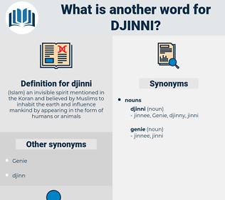 djinni, synonym djinni, another word for djinni, words like djinni, thesaurus djinni