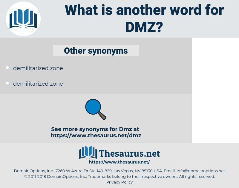 DMZ, synonym DMZ, another word for DMZ, words like DMZ, thesaurus DMZ