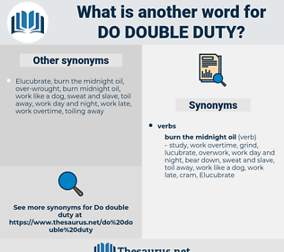 do double duty, synonym do double duty, another word for do double duty, words like do double duty, thesaurus do double duty