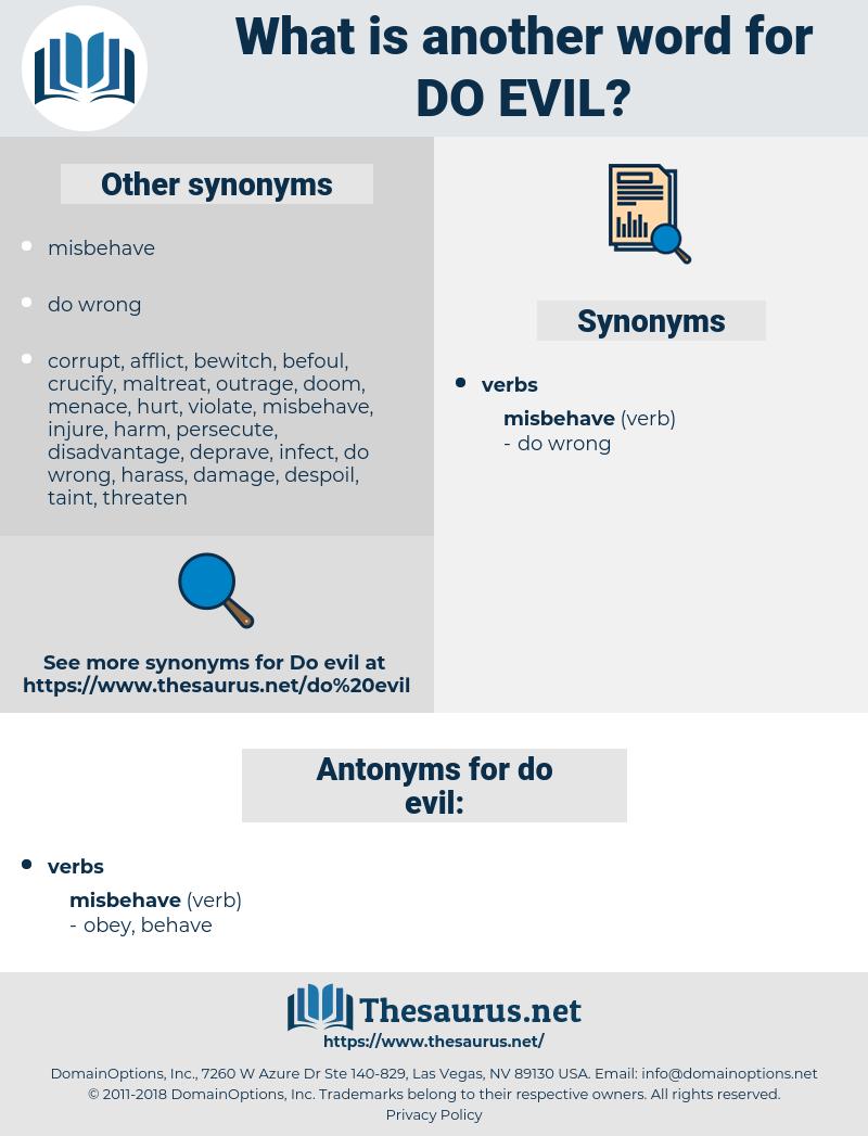do evil, synonym do evil, another word for do evil, words like do evil, thesaurus do evil