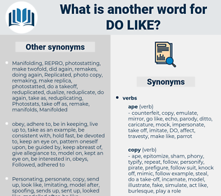 do like, synonym do like, another word for do like, words like do like, thesaurus do like