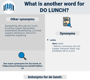 do lunch, synonym do lunch, another word for do lunch, words like do lunch, thesaurus do lunch