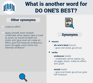 do one's best, synonym do one's best, another word for do one's best, words like do one's best, thesaurus do one's best