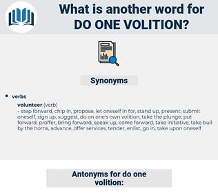 do one volition, synonym do one volition, another word for do one volition, words like do one volition, thesaurus do one volition