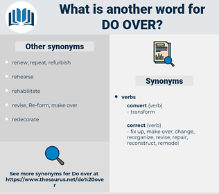 do over, synonym do over, another word for do over, words like do over, thesaurus do over
