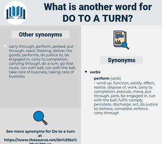 do to a turn, synonym do to a turn, another word for do to a turn, words like do to a turn, thesaurus do to a turn