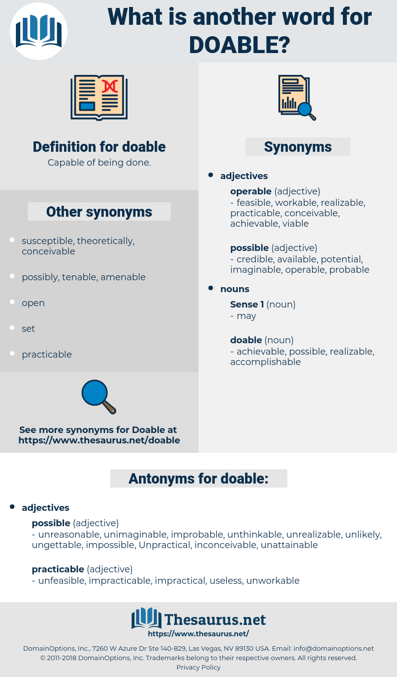 doable, synonym doable, another word for doable, words like doable, thesaurus doable