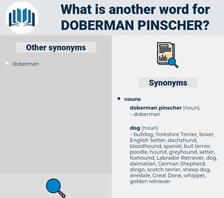 Doberman Pinscher, synonym Doberman Pinscher, another word for Doberman Pinscher, words like Doberman Pinscher, thesaurus Doberman Pinscher