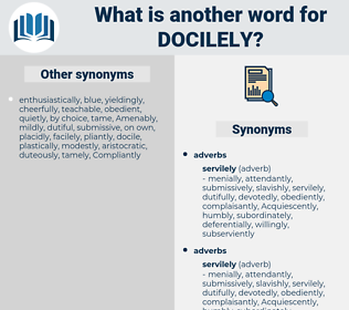 docilely, synonym docilely, another word for docilely, words like docilely, thesaurus docilely