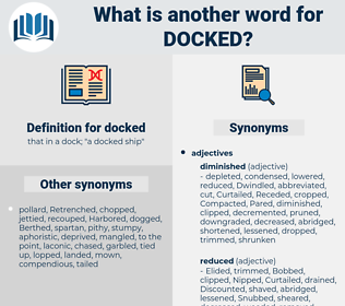docked, synonym docked, another word for docked, words like docked, thesaurus docked
