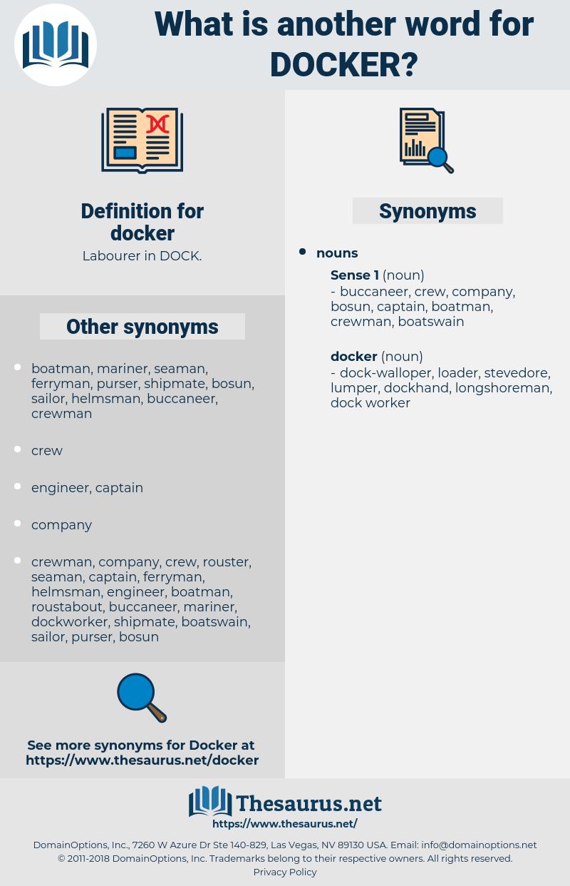 docker, synonym docker, another word for docker, words like docker, thesaurus docker