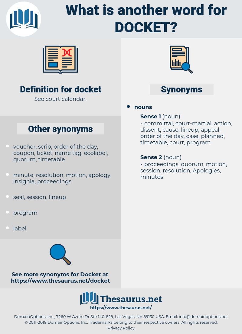 docket, synonym docket, another word for docket, words like docket, thesaurus docket
