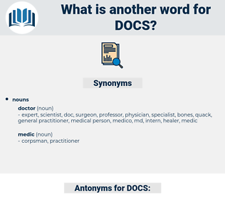 DOCS, synonym DOCS, another word for DOCS, words like DOCS, thesaurus DOCS